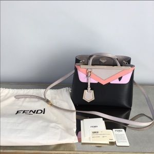 FENDI petite monster 2jours Vitello elite tote bag